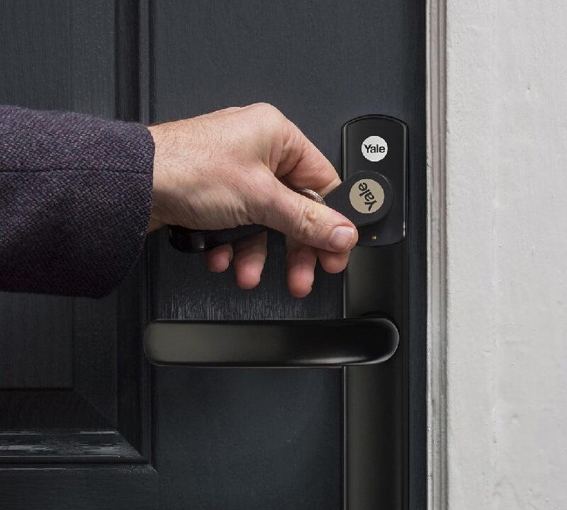 smart lock on front door